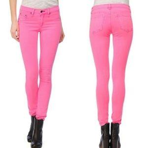 Rag & Bone Pink Distressed Legging Skinny Jeans 28